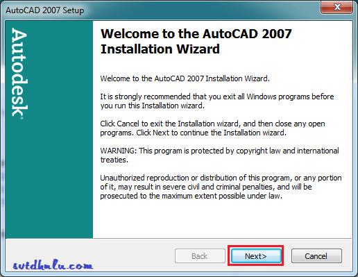 huong dan cai CAD 2007 3