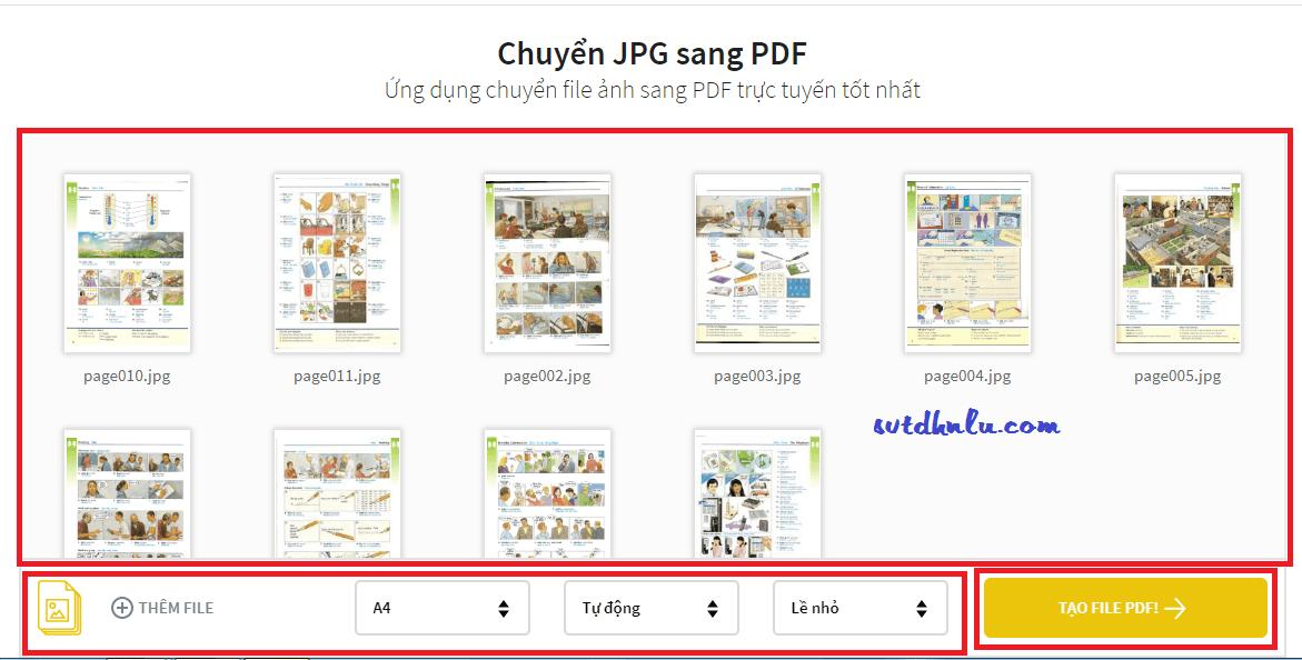 Tạo tệp tin PDF từ tệp hình ảnh trực tuyến