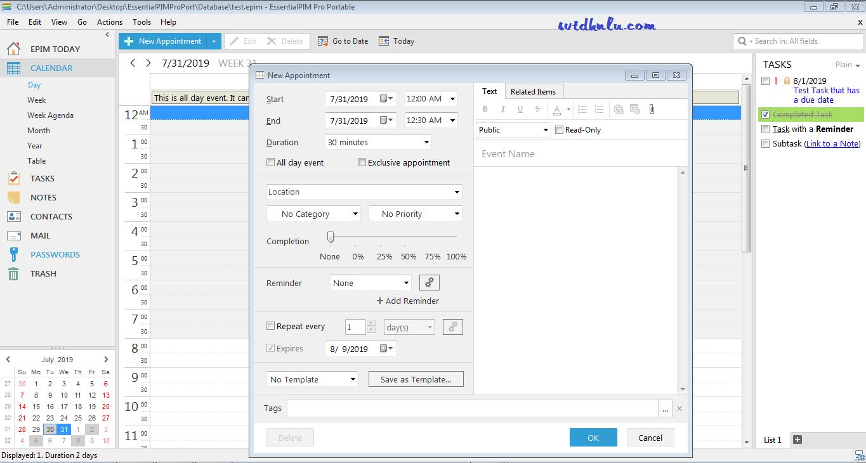 Phần mềm EssentialPIM Pro 8.54.3 full crack - Quản lí thông tin cá nhân