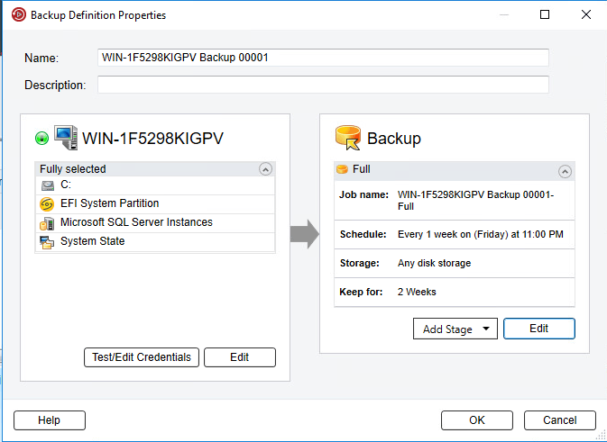 Backup dữ liệu dùng Veritas Backup Exec
