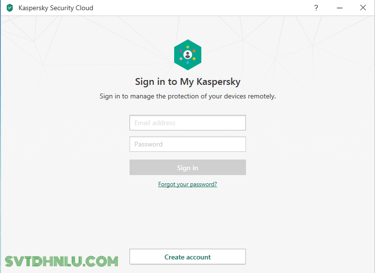 Đăng ký tài khoản Kaspersky Miễn Phí