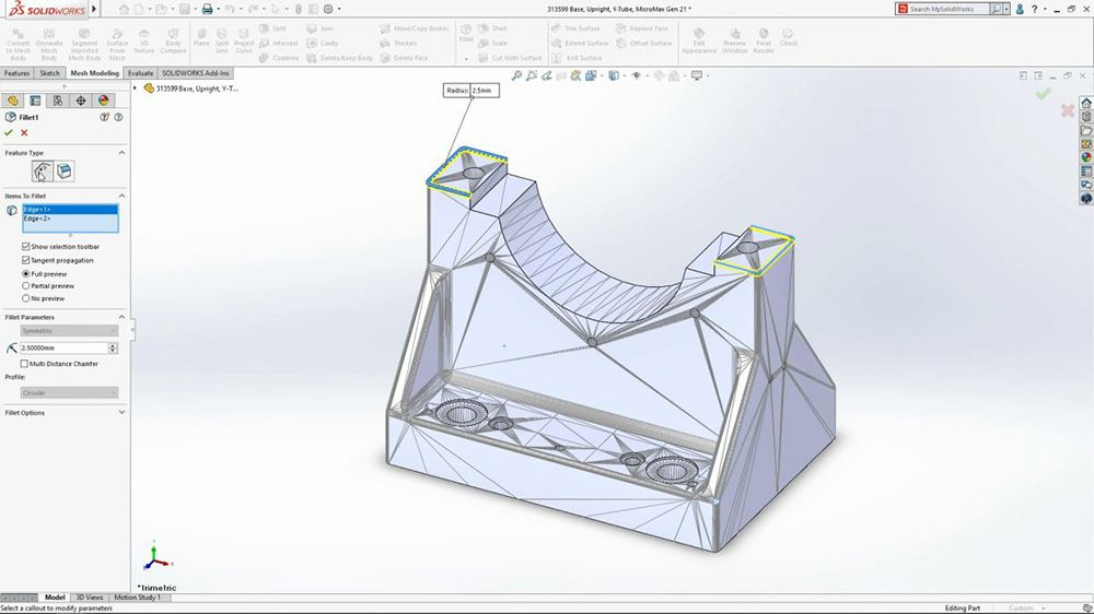 Solidworks 2020 Direct Mesh Editing