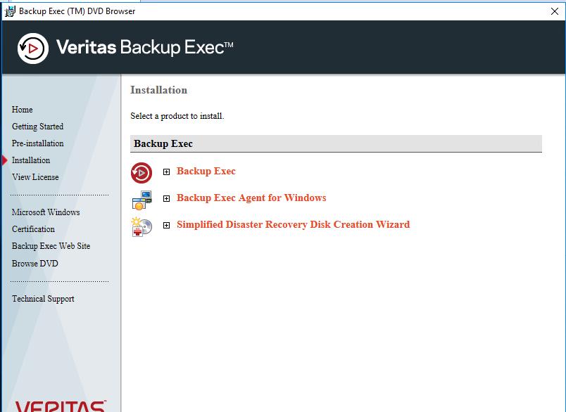 Download Veritas Backup Exec 2019