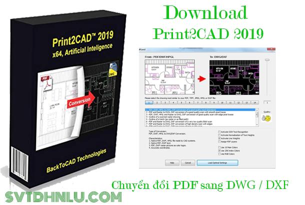 Download Print2CAD 2019 miễn phí