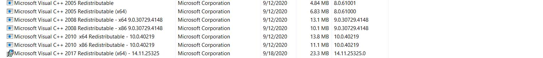 Trước khi run Visual C ++ 2005 to 2019 Redistributable Package 10/14/2020